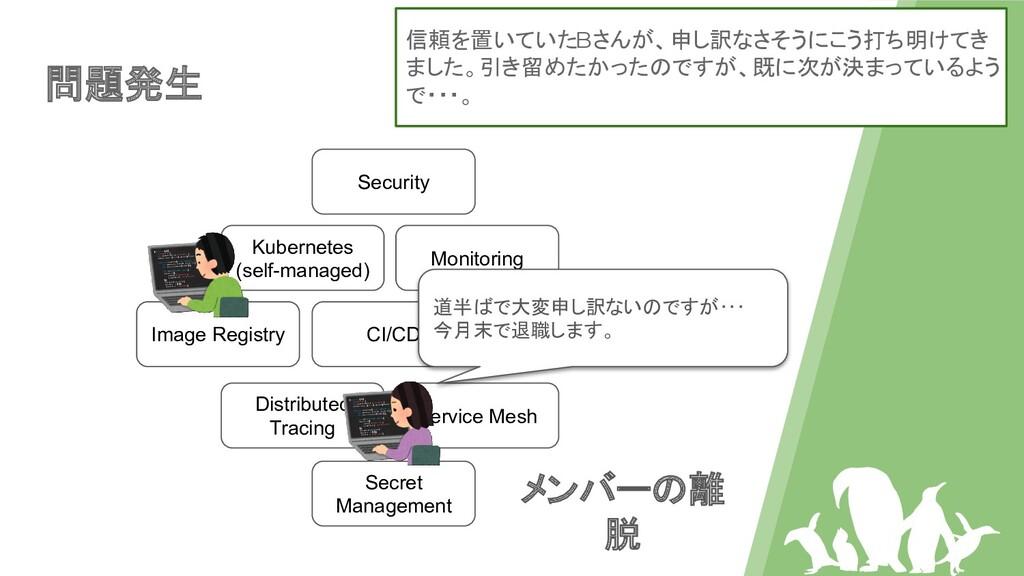 問題発生 Kubernetes (self-managed) Image Registry C...