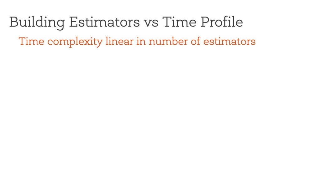 Building Estimators vs Time Profile Time comple...