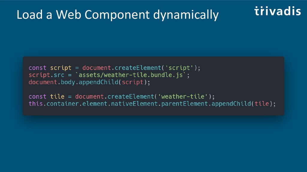 Load a Web Component dynamically