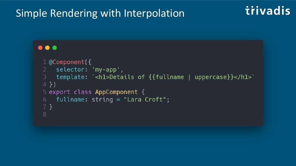 Simple Rendering with Interpolation