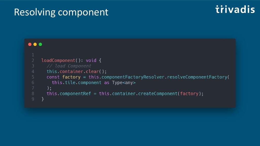 Resolving component