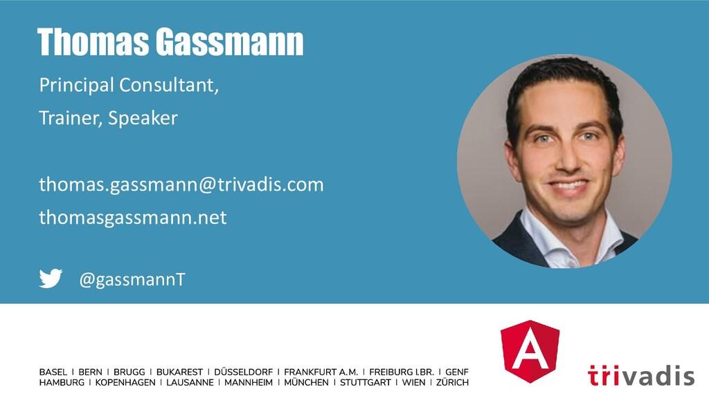 Thomas Gassmann Principal Consultant, Trainer, ...