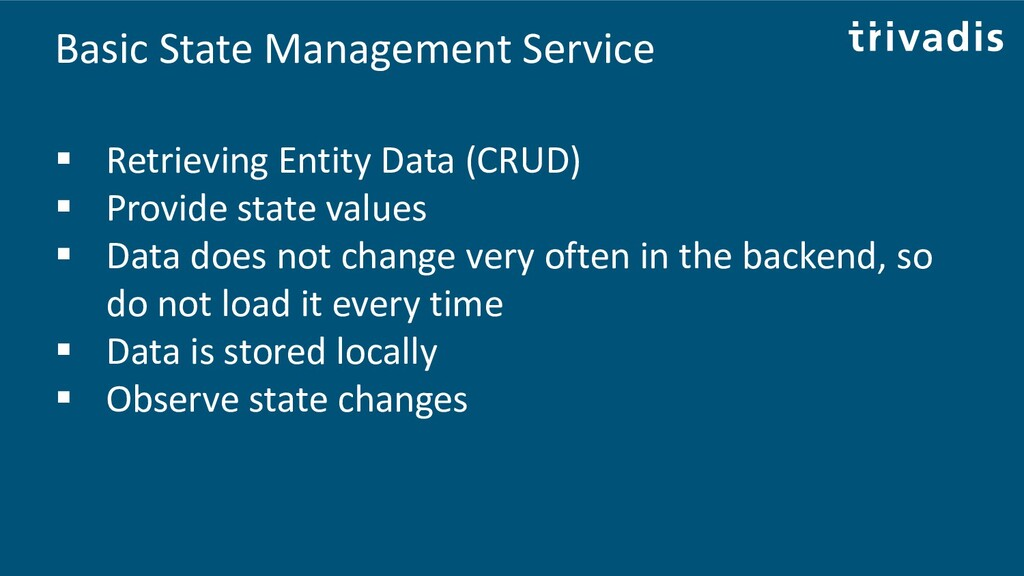 Basic State Management Service ▪ Retrieving Ent...
