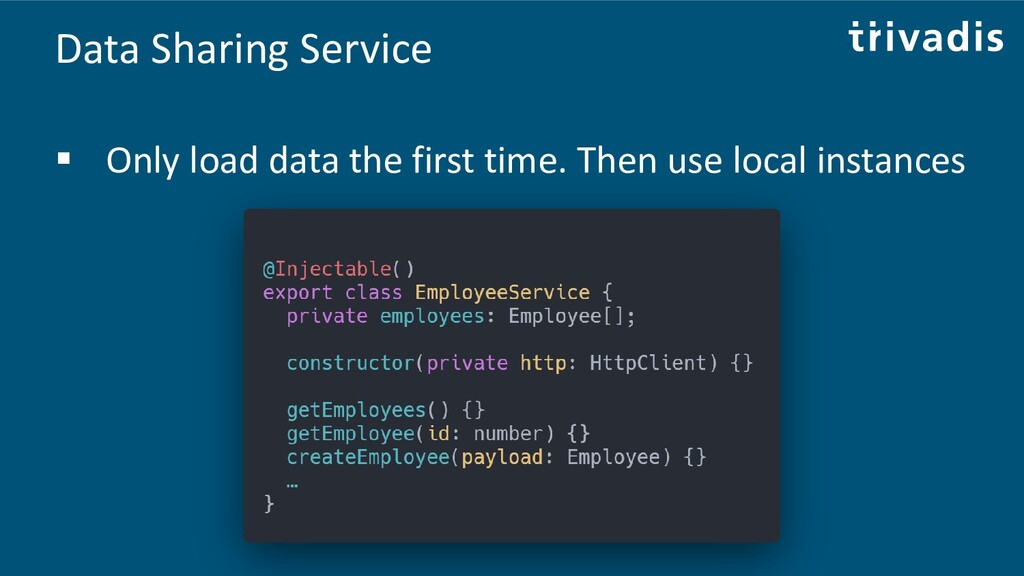 Data Sharing Service ▪ Only load data the first...