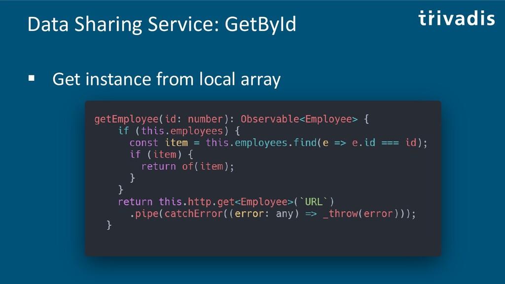 Data Sharing Service: GetById ▪ Get instance fr...