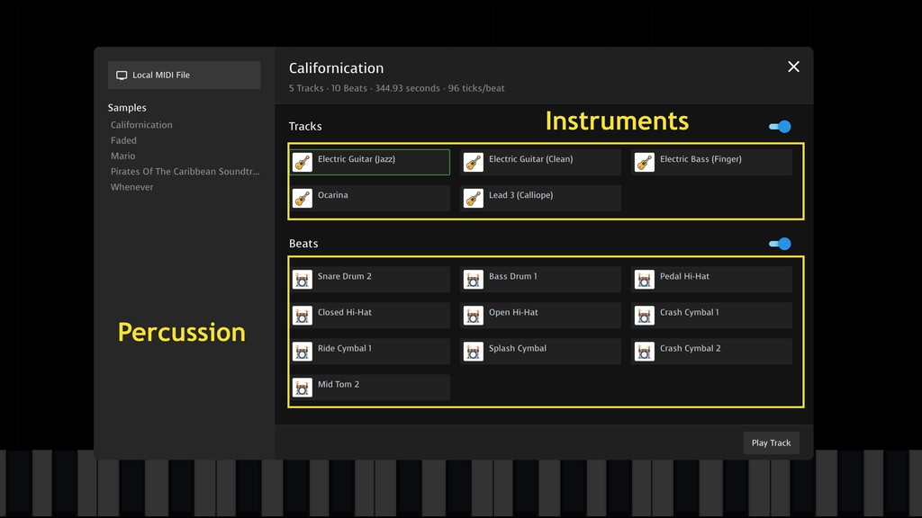 Instruments Percussion