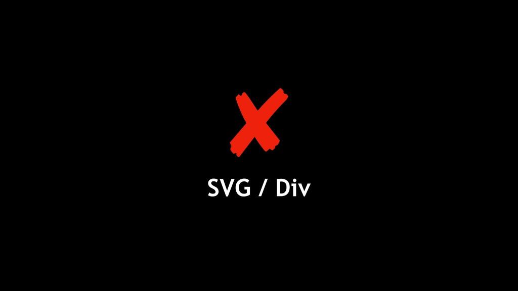 SVG / Div