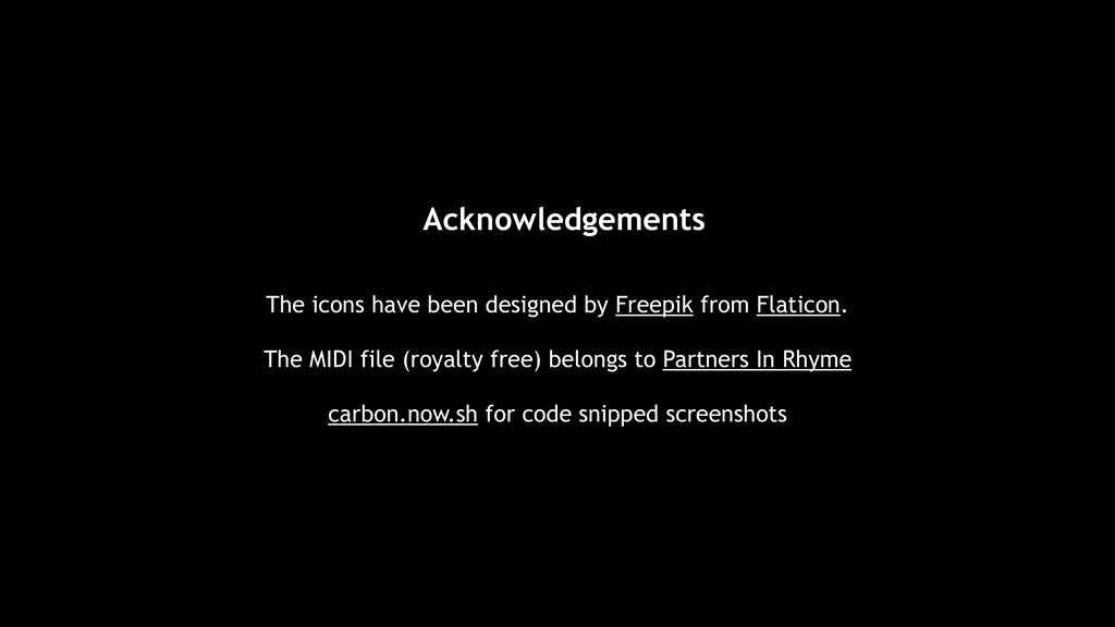 Acknowledgements The icons have been designed b...