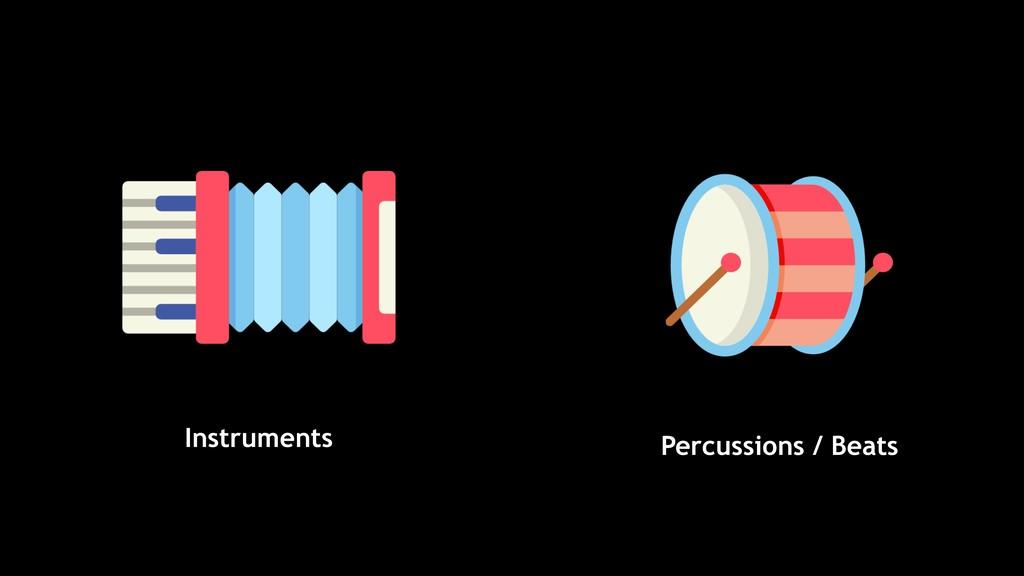 Percussions / Beats Instruments