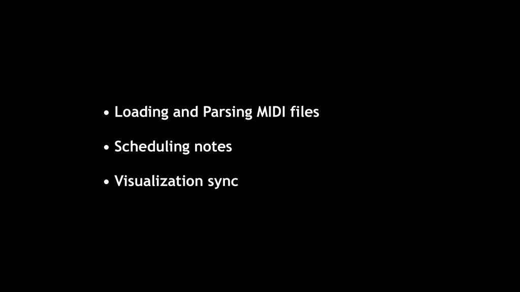 • Loading and Parsing MIDI files • Scheduling n...