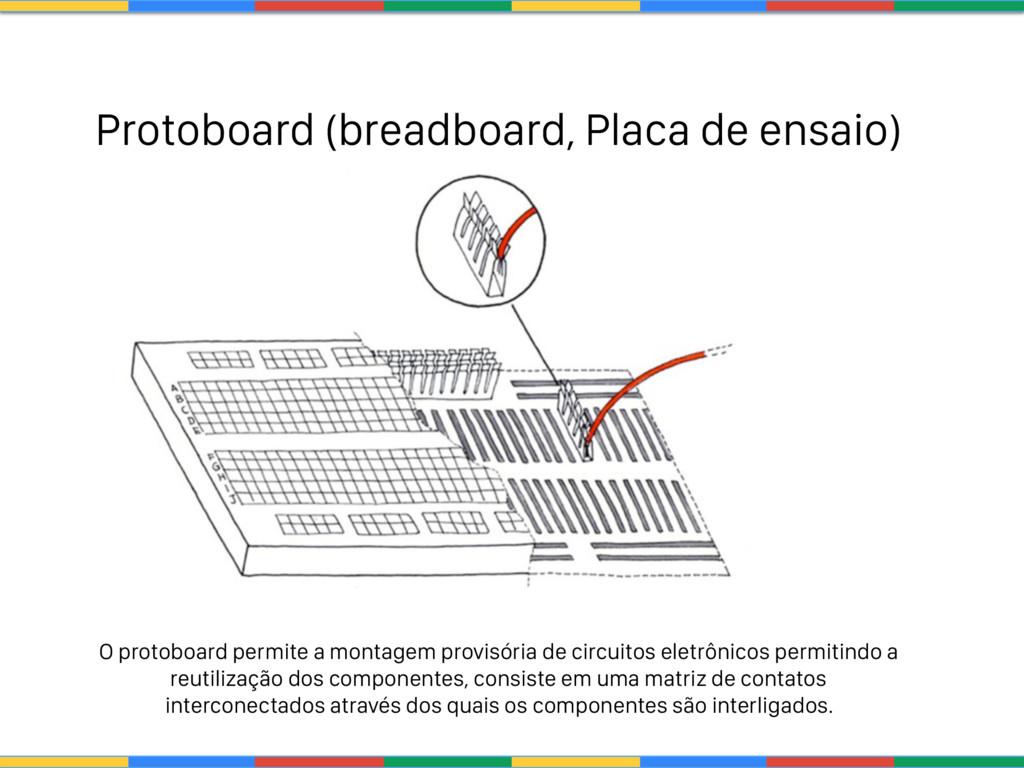 Protoboard (breadboard, Placa de ensaio) O prot...