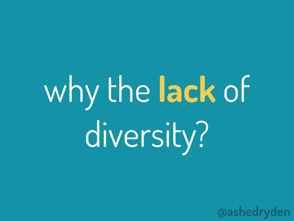 @ashedryden why the lack of diversity?