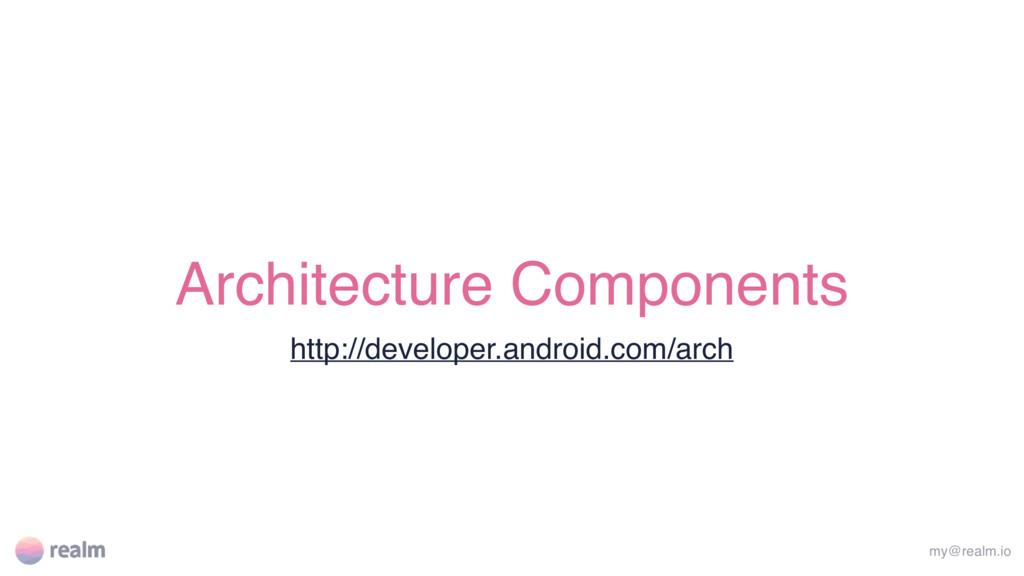 Architecture Components http://developer.androi...