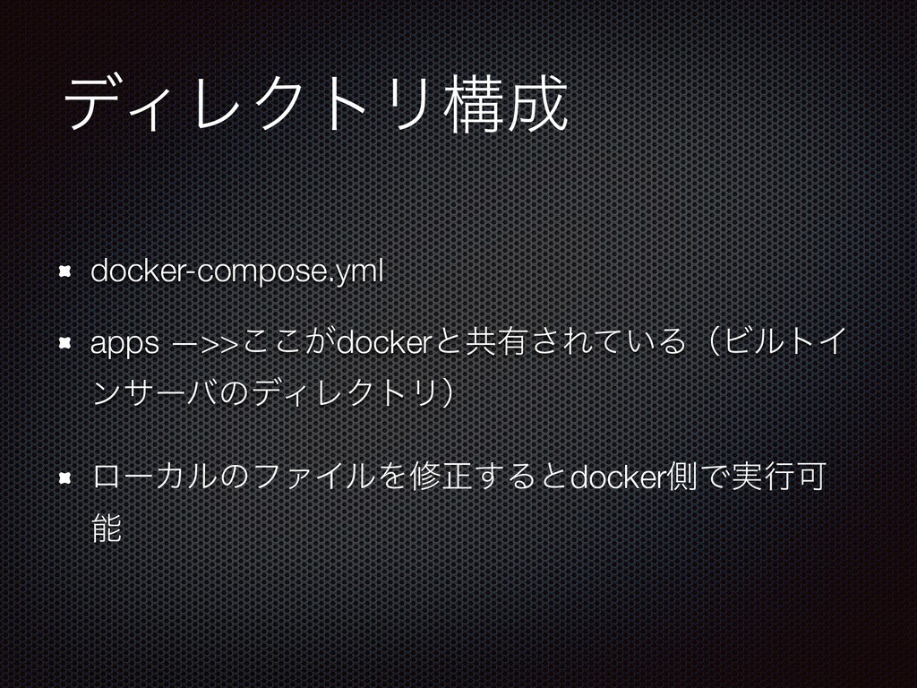 σΟϨΫτϦߏ docker-compose.yml apps —>>͕͜͜dockerͱڞ...