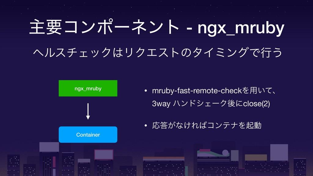 ! ओཁίϯϙʔωϯτ - ngx_mruby ngx_mruby Container • m...