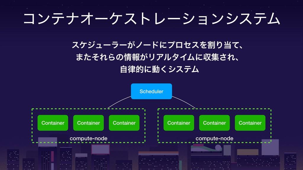 ίϯςφΦʔέετϨʔγϣϯγεςϜ Scheduler compute-node Conta...