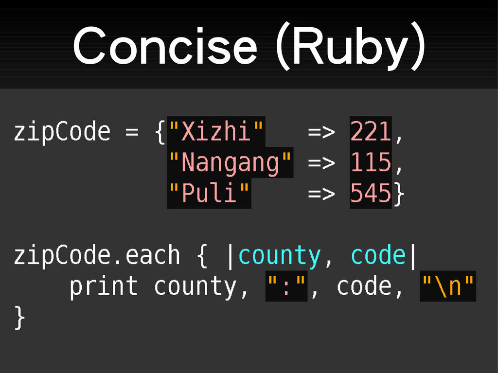 Concise (Ruby)