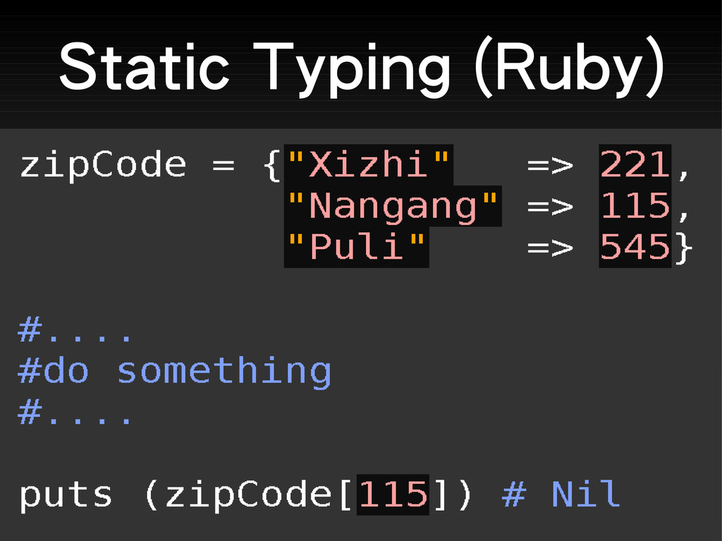 Static Typing (Ruby)