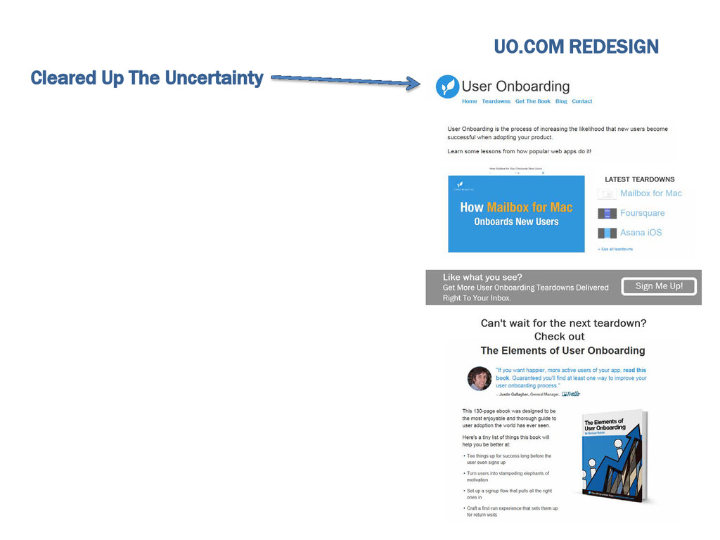 Cleared Up The Uncertainty UO.COM REDESIGN