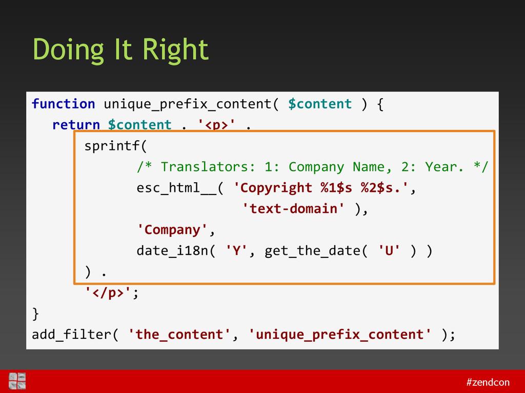 #zendcon Doing It Right function unique_prefix_...