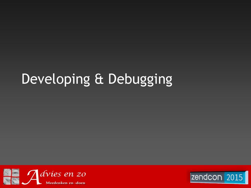 Developing & Debugging