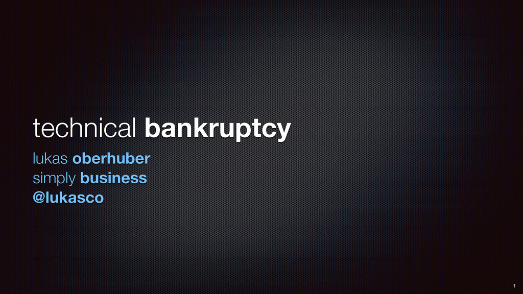 technical bankruptcy lukas oberhuber simply bus...