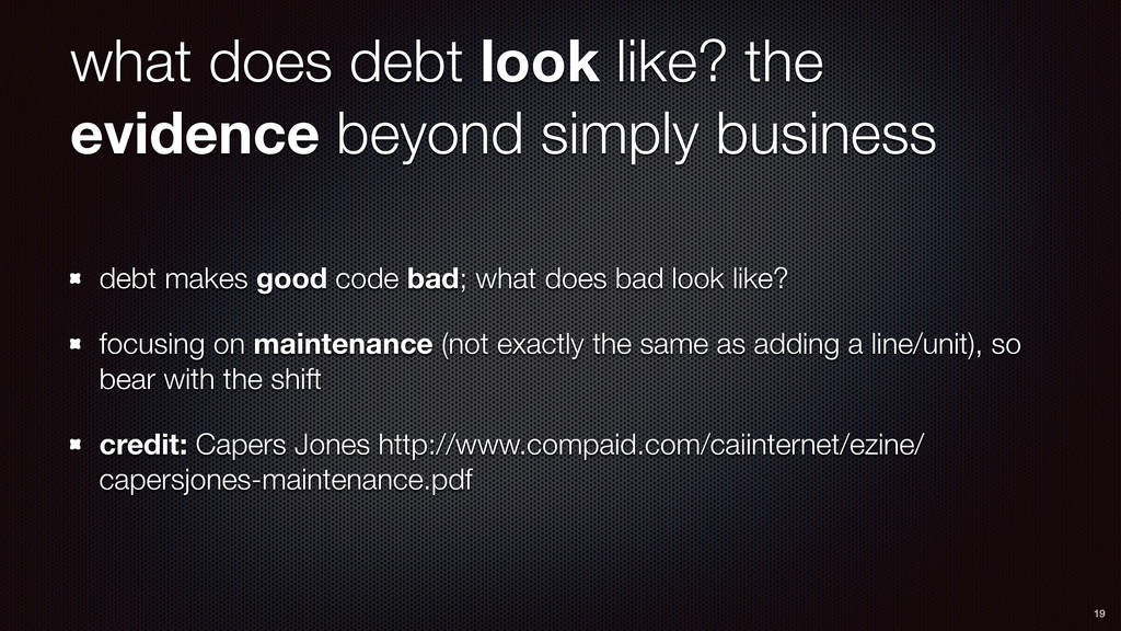 what does debt look like? the evidence beyond s...