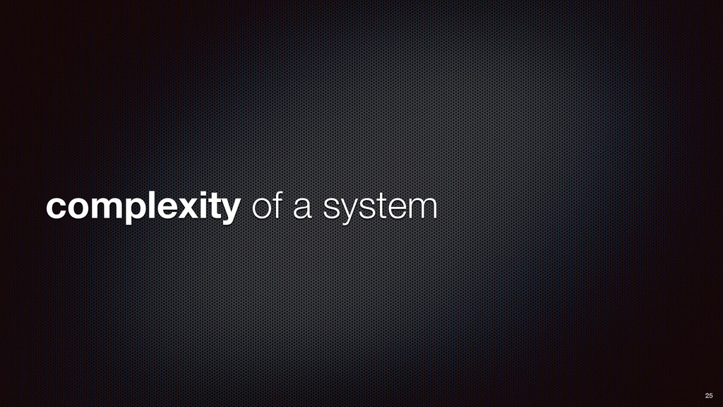 complexity of a system 25