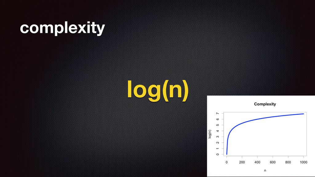 complexity log(n) 42
