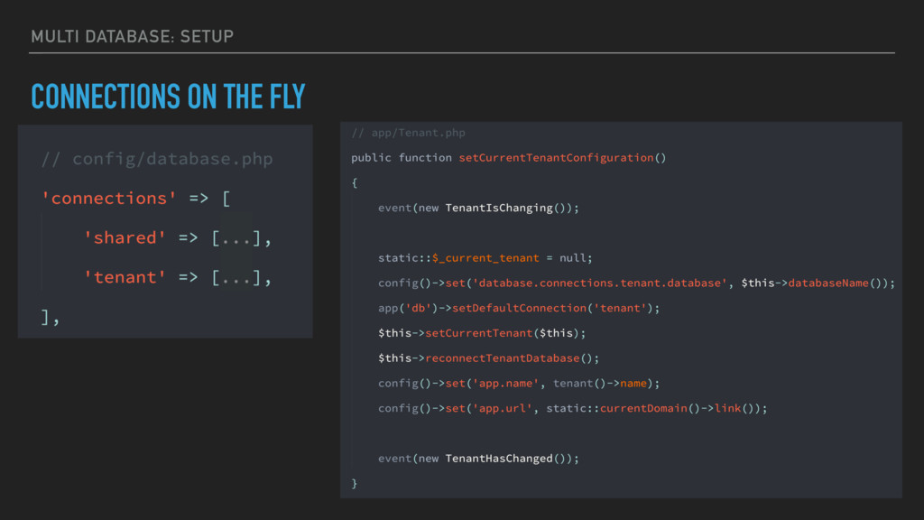 MULTI DATABASE: SETUP CONNECTIONS ON THE FLY