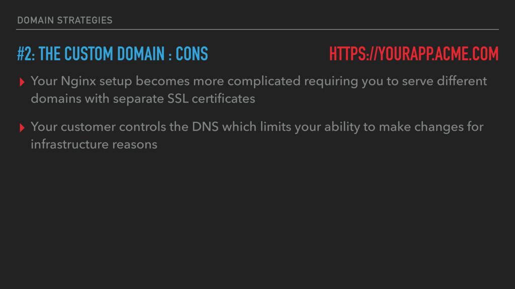 DOMAIN STRATEGIES ▸ Your Nginx setup becomes mo...
