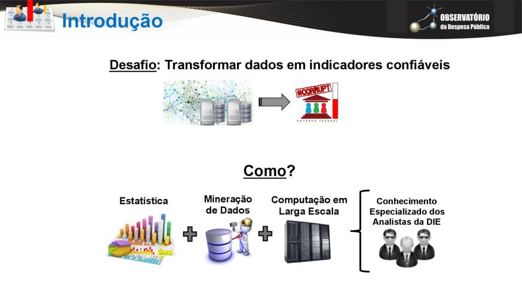 Introdução Desafio: Transformar dados em indica...