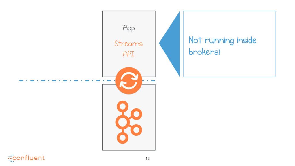 12 App Streams API Not running inside brokers!