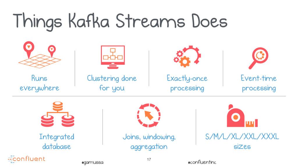 @gamussa @confluentinc 17 Things Kafka Streams ...