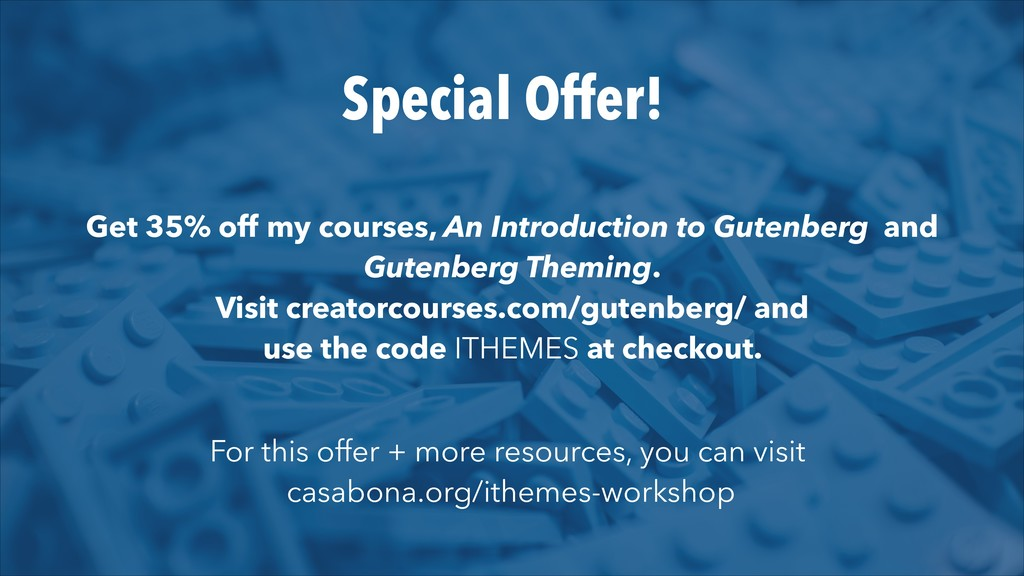 Special Offer! Get 35% off my courses, An Intro...