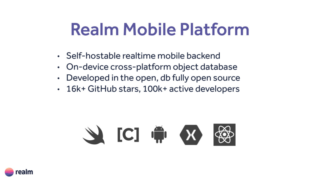Realm Mobile Platform • Self-hostable realtime ...