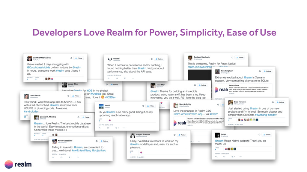 Developers Love Realm for Power, Simplicity, Ea...