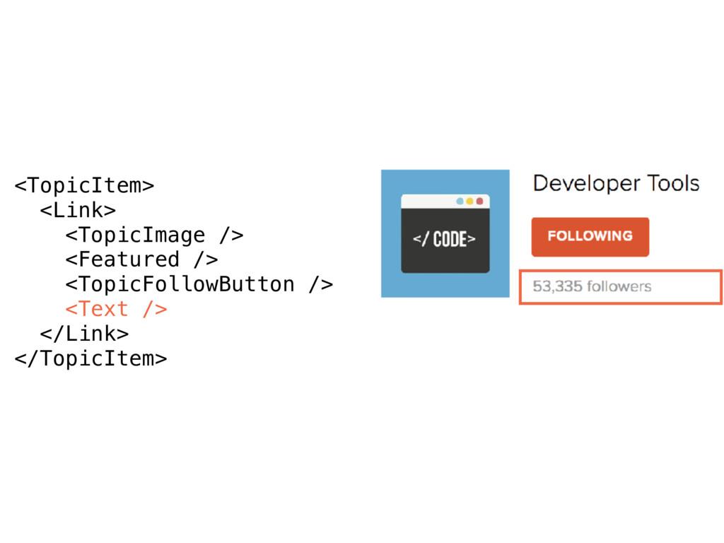 <TopicItem> <Link> <TopicImage /> <Featured /> ...