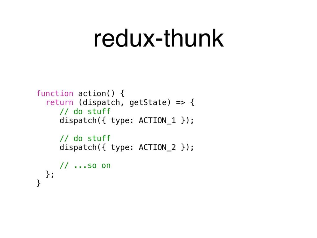 function action() { return (dispatch, getState)...