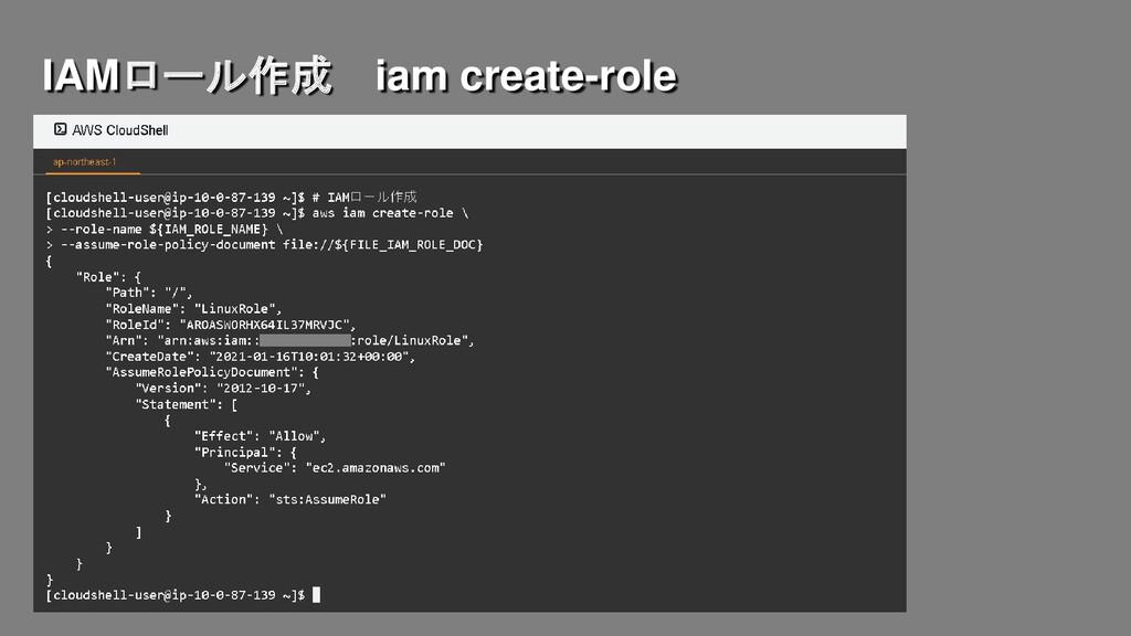 IAMロール作成 iam create-role