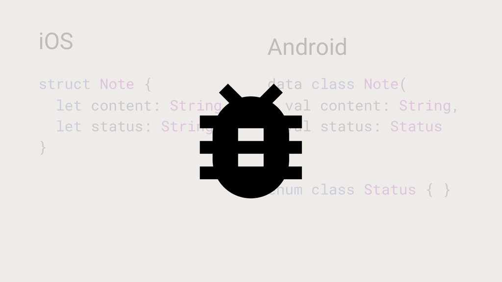 iOS struct Note { let content: String let statu...