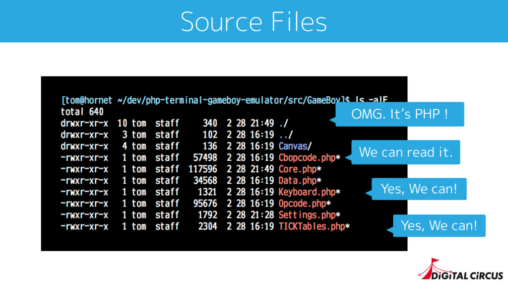Source Files OMG. It's PHP ! Yes, We can! Yes, ...