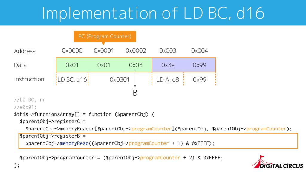 //LD BC, nn //#0x01: $this->functionsArray[] = ...