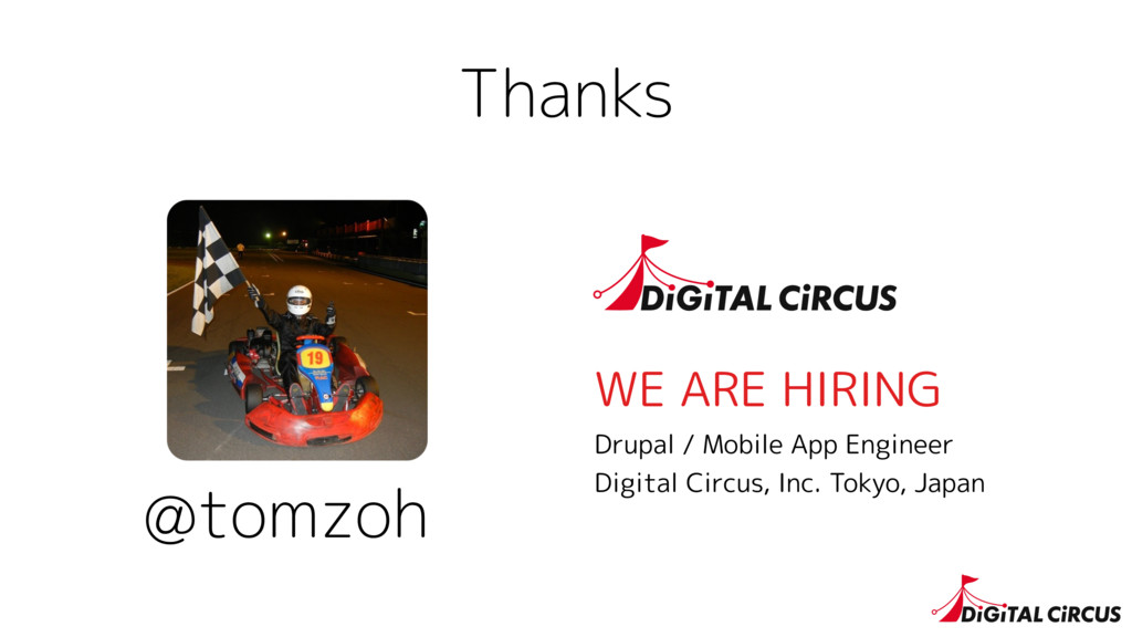 Thanks @tomzoh WE ARE HIRING Drupal / Mobile Ap...