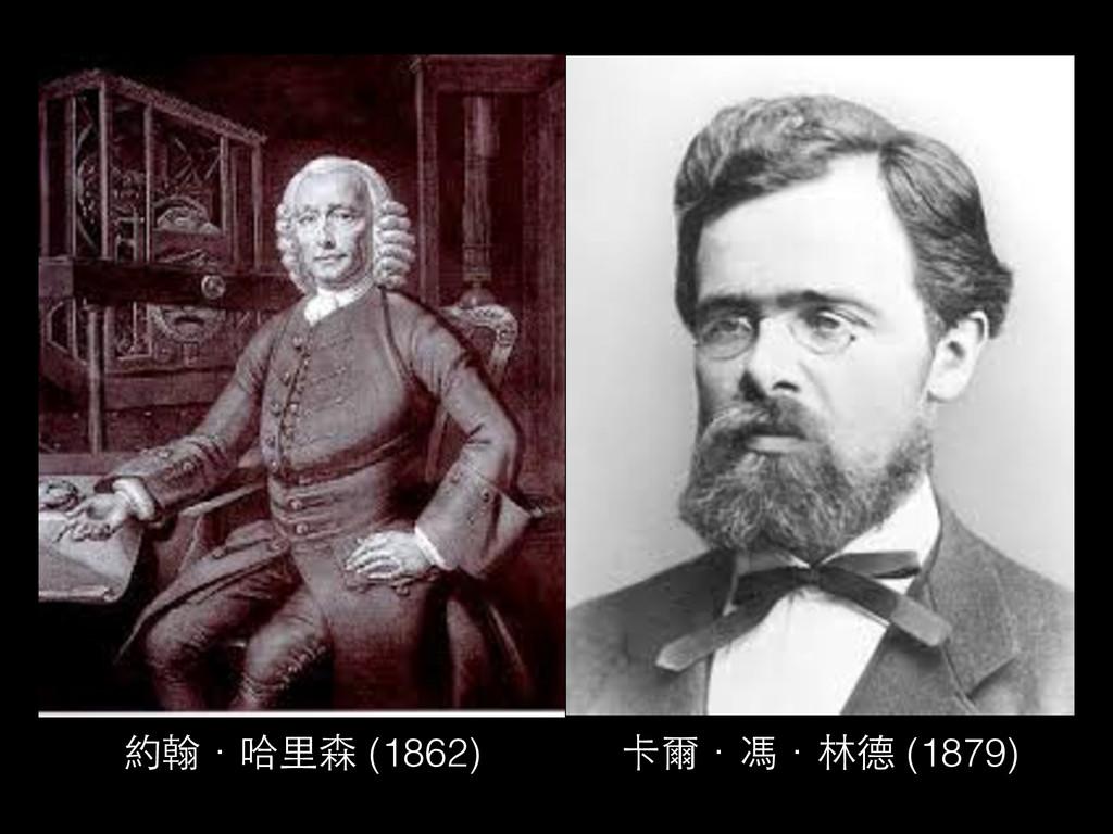 約翰.哈⾥里森 (1862) 卡爾.馮.林德 (1879)