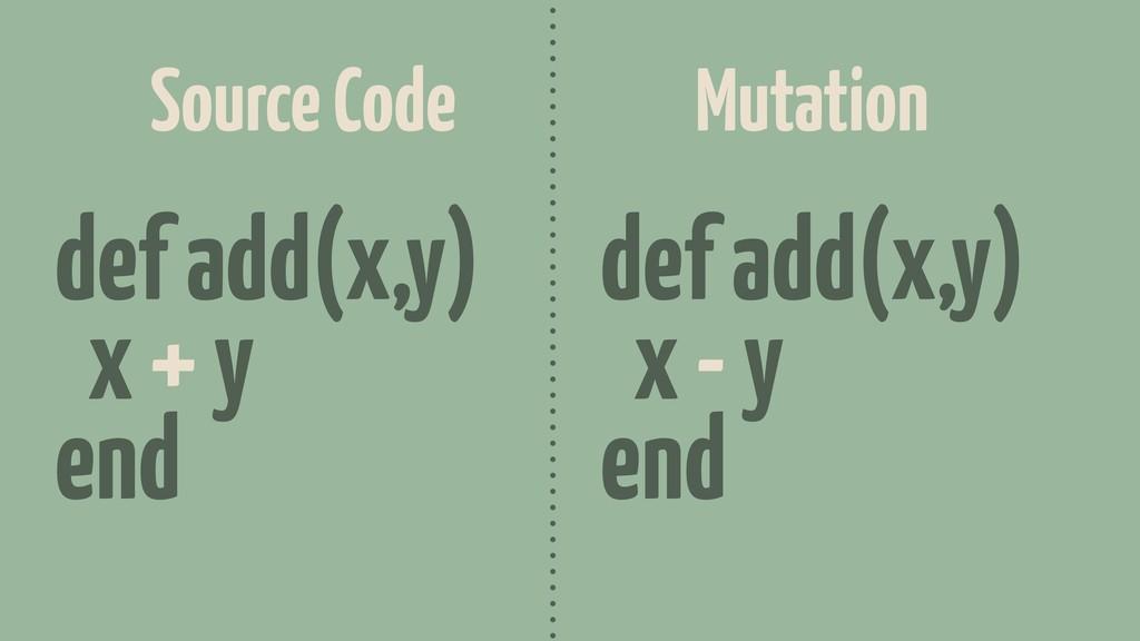 def add(x,y) x + y end def add(x,y) x - y end S...