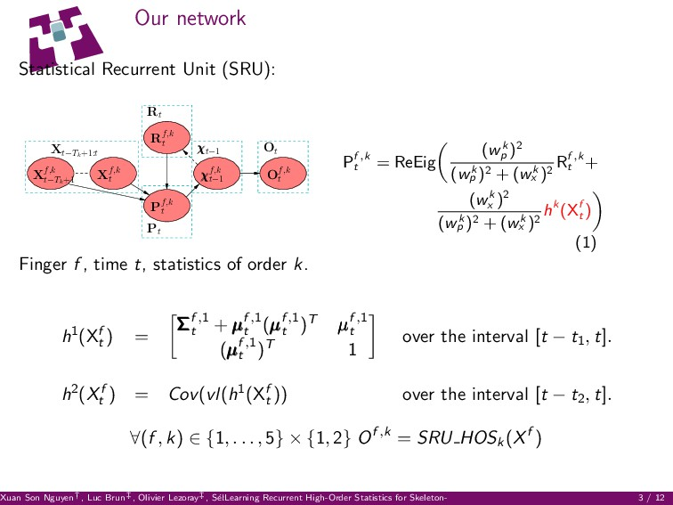 Our network Statistical Recurrent Unit (SRU): R...