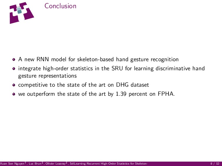 Conclusion A new RNN model for skeleton-based h...