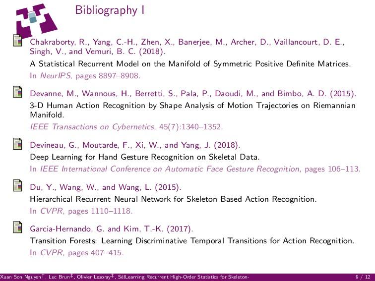 Bibliography I Chakraborty, R., Yang, C.-H., Zh...