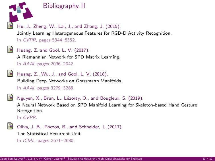 Bibliography II Hu, J., Zheng, W., Lai, J., and...